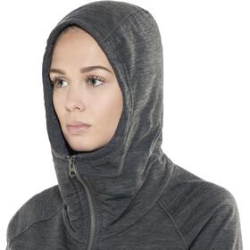 Icebreaker Dia Long Hooded Jacket Damen jet heather